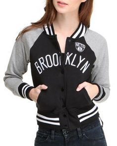 Buy Brooklyn Nets Light Weight Track Jacket Women's Outerwear from NBA MLB NFL Gear. Find NBA MLB NFL Gear fashions & more at DrJays.com