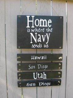 Pretty good idea for a soon to be navy wife.