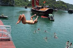jumping-off-boat-halong-bay