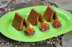 It's time to pitch camp -graham crackers, caramel apple wraps & frosting