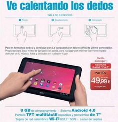 Consigue con La Vanguardia una Tablet Airis OnePAD 717 de 7 pulgadas. Sigue el enlace si te interesa: http://ofertasdeprensa.offertazo.com/tablet-airis-one-pad-717-la-vanguardia/