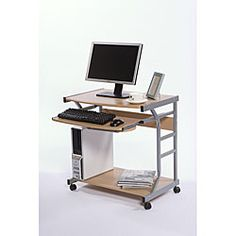 @Overstock.com - Berkeley Computer Desk - Store your desktop on this small computer desk to utilize limited space. This Berkeley computer desk is made of sturdy stamped PVC, powder-coated frames, and MDF board. It features an open design to accommodate different pieces of equipment.  http://www.overstock.com/Home-Garden/Berkeley-Computer-Desk/4682279/product.html?CID=214117 $44.09