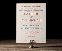 Letterpress Wedding Invitations | Modern Basel Design | Bella Figura Letterpress