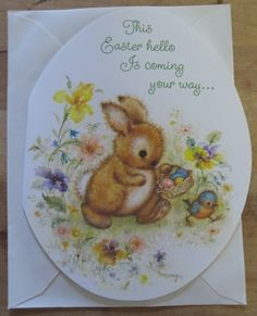 Vintage Hallmark Mary Hamilton Darling Bunny Easter Greeting Card w enV | eBay