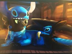 Stitch and toothless by TsaoShin