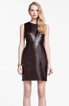 Must have faux leather dress for fall!