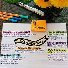 """151 curtidas, 2 comentários - É Por Amor! (@_sonhomed_) no Instagram: """"Bom diaaaa!! Mapinha sobre a ⏺ERA NAPOLEÔNICA!!⏺ Tentei resumir ao máximo. Dêem uma lida nos…"""" Mental Map, Study Organization, Study Planner, School Notes, Studyblr, School Life, Study Motivation, Student Life, Study Tips"""