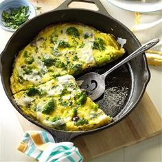 Mediterranean Broccoli & Cheese Omelet Recipe from Taste of Home