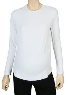 "Lilo Maternity Long Sleeve Shell White XL by Lilo Maternity. $23.60. This white long sleeve shell is great for layering. Plenty of room to grow. Runs short so it wont stick out under your tops. Material: 90% Nylon 10% Spandex. Machine Washable. Dimensions: 22"" H x 8"" W x 7"" D. Color: White. Size: XL.. Save 23% Off!"