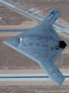New View of stealthy drone X-47B