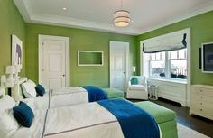 Pretty Little Snippets: Room Design - Lime Green and Navy