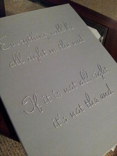 CUSTOM 3D Quote on 18x24 or 20x24 Canvas by SubtleWords on Etsy, $40.00