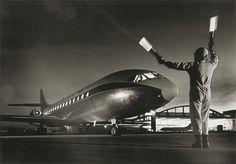 Caravelle, atterrissage de nuit 1964  - Jean Dieuzaide