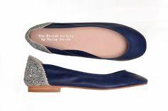 Elegidos para el fin del verano  Ballerinas con brillos (The French Factory, $689).