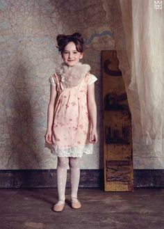Their Nibs winter 2013 lace trimmed soft vintage style printed girls dresses point to next summers trends too for kids.