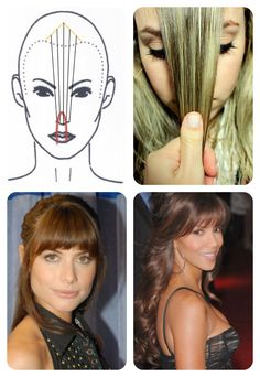 Delicate and virtuous: Step by step- · Wet the fringe · Divide same picture up there · Position it straight in front of the nose · Position the big toe and cut around, leaving the ends longer. Haircuts For Big Noses, Cool Haircuts, Hairstyles With Bangs, Cool Hairstyles, Hair Cutting Techniques, Hair Color Techniques, Angled Bangs, Cabello Hair, How To Cut Bangs