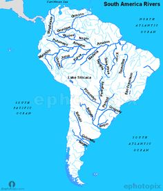World River Map | World Map with Rivers | World Map in 2019 | Map ...