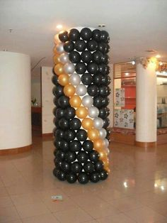 LIA PALKA ★GBAlmanac★ presents EaSY System: a great Brazilian technique to cover pillars and poles. How To Make Balloon, Love Balloon, Balloon Wall, Balloon Garland, Balloon Ideas, Balloon Party, Ballon Column, Moms 50th Birthday, Boy Birthday