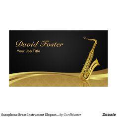 Saxophone Brass Instrument Elegant Gold Damask