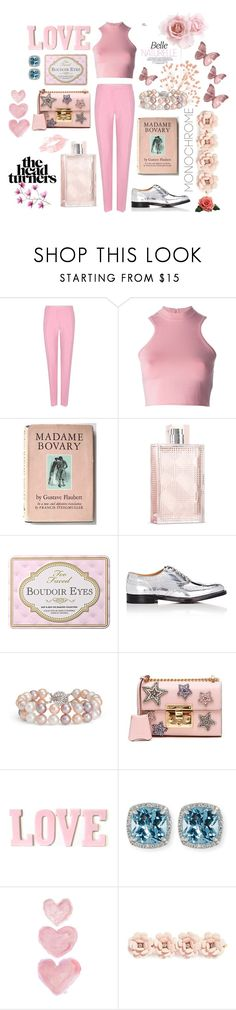 """""""Pretty in Pink"""" by themarshmallowmadness ❤ liked on Polyvore featuring Valentino, Versace, Burberry, Church's, Blue Nile, Gucci, Frederic Sage, Shabby Chic and J.Crew"""