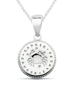 Look what I found on #zulily! Sterling Silver Cancer Pendant Necklace #zulilyfinds
