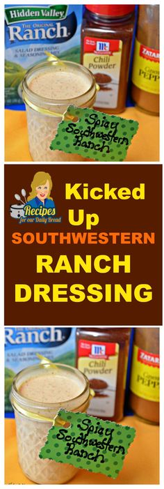 This Southwestern Ranch Dressing is a great way to kick up your Ranch dressing. I took my copycat Outback Ranch dressing & created this Southwestern Ranch. Southwest Ranch Dressing, Southwestern Ranch, Chipotle Ranch Dressing, Ranch Dressing Recipe, Ranch Recipe, Vegetarian Cookbook, Our Daily Bread, Quick Easy Meals, Mexican Food Recipes