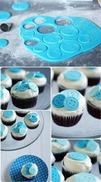 How to make 'Cute as a Button' cupcakes (Bake@350).