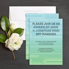 Zen Wedding Invitations by Bunny Bear Press   Elli
