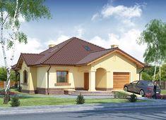 Ramzes - zdjęcie 2 Village House Design, Village Houses, Beautiful House Plans, Beautiful Homes, Home Building Design, Building A House, 20 M2, House Design Pictures, Modern Bungalow House