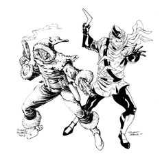 Captain Cold & Captain Boomerang by Robert Atkins Captain Boomerang, Fastest Man, Man Alive, Atkins, Rogues, Dc Comics, Characters, Cold, Art