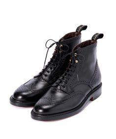 International Gallery BEAMS(インターナショナルギャラリー)の<限定>foot the coacher × GRENSON / Wing Tip Boots(ブーツ)|ブラック