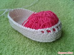 How to Crochet Pretty Baby Bootie with Ribbon Tie | www.FabArtDIY.com LIKE Us on Facebook ==> https://www.facebook.com/FabArtDIY