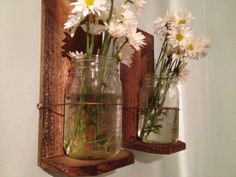 Mason Jar Sconce Planter by RusticWoodHomeDesign on Etsy, $17.50