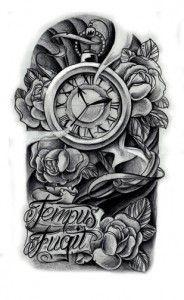 Эскизы тату часы   ТриТатушки