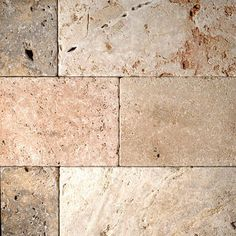 Scabos tumbled travertine paver swatch