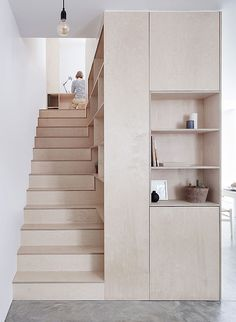 Islington Maisonette von Larissa Johnston Architects in London The Effective Pictures We Offer You About basement Stairs A quality picture can tell you many things. Plywood Interior, Interior Stairs, Plywood Furniture, Interior Architecture, Furniture Design, Furniture Cleaning, Furniture Storage, Ancient Architecture, Sustainable Architecture