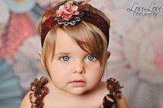 VINTAGE PRINCESS Brown Burnt Orange Headband Photography Prop on Etsy, $23.99