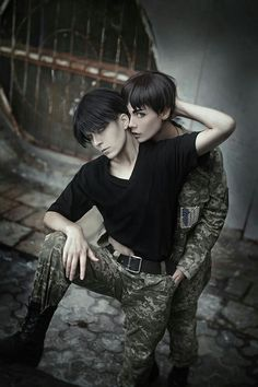 Eren x Levi cosplay | SnK / AoT | manga & anime - COSPLAY IS BAEEE!!! Tap the pin now to grab yourself some BAE Cosplay leggings and shirts! From super hero fitness leggings, super hero fitness shirts, and so much more that wil make you say YASSS!!!