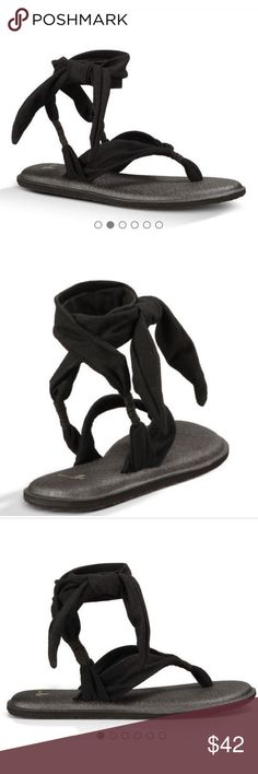 NWT Sanuk yoga mat lace up sandals Sanuk yoga mat sandals. I ordered these a size too small and now I can return them since I'm out of the 30 day time period. They're SO comfortable and can be used for a casual occasion! BRAND NEW!! Sanuk Shoes Sandals