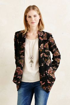 Midnight Blooms Blazer - anthropologie.eu
