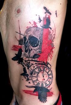 Get to witness the most Killer Trash Polka tattoos and deisgns here. We have the most splendid art styles that will tell you all the Trash Polka tattoo meaning as well as the Snake tattoo arm, back, shoudler, neck and even your leg. Skull Tattoos, Body Art Tattoos, New Tattoos, Sleeve Tattoos, Tattoos For Guys, Tattoo Style, 1 Tattoo, Badass Girl, Tattoo Trash