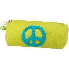 Peace Sign Felt Pencil Case -Paper Source Item #413289 $9.95