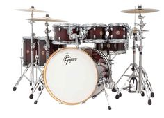 Gretsch Catalina Maple Dark Cherry Burst Lacquer 7pc Drum Set!