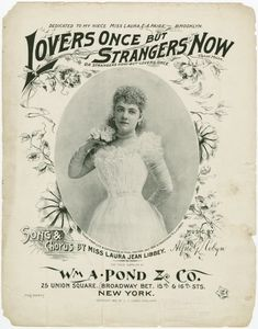 Lovers once but strangers now ~ 1890