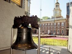Liberty Bell Center, next to the former Penn. State House (now Independence Hall) where both the Declaration of Independence and the U.S. Constitution were signed.