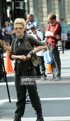 Kate McKinnon on the set of 'Ghostbusters' on September 19, 2015 in...