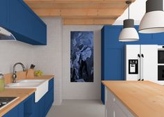 Mimicry I. in the kitchen arctic 60x140cm / 30x70cm and in digital form.