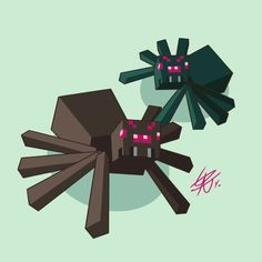 Minecraft Spider, Minecraft Art, Minecraft Stuff, Minecraft Pictures, Monster School, Fanart, Green Wallpaper, Animation Film, Best Games