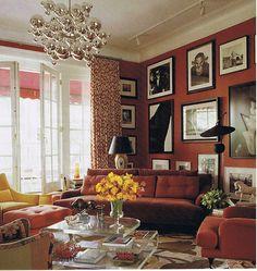 Elle Decor Red Room 10-2009 Bibi Monahan   Elle Decor Red Ro…   Flickr