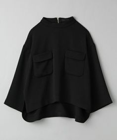 JEANASIS(ジーナシス)のロールネックWポケシャツ/713721(シャツ/ブラウス) ブラック